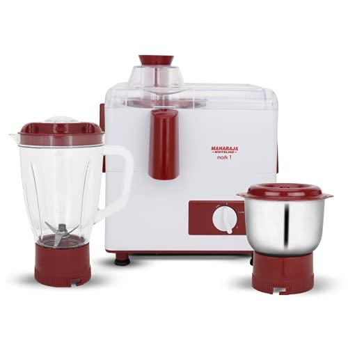 Maharaja Whiteline Mixer Grinder, 450W (White and Red)