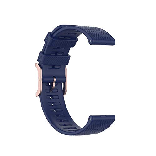 XUEXIU Silicone Strap Watch Band para Samsung Galaxy Watch 3 41mm Banda De Muñeca De Reloj 20mm para Garmin Forerunner 645/245 Vivoactivo 3 (Color : Blue, Size : For Forerunner 645)