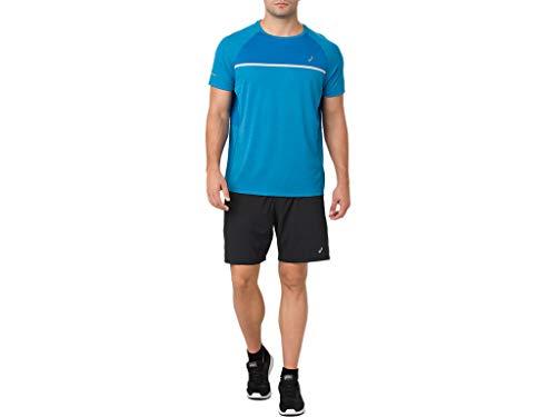 ASICS Men's Short Sleeve Top, Race Blue, Medium