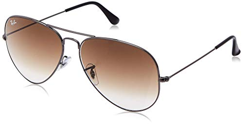 Ray-Ban Aviator RB 3025, Gafas de Sol Unisex, Marrón (Gunmetal), 55 mm