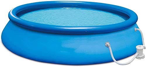 XLBHSH 15ft x 36in Quick Set Inflatable Above Ground Swimming Pool with Filter Pump