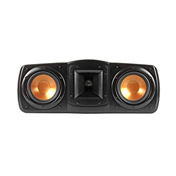 """Klipsch Synergy Black Label C-200 Center Channel Speaker for Crystal-Clear Dialogue and Vocals with Proprietary Horn Technology Dual 5.25"""" High-Output Woofers and Dynamic 1"""" Tweeter in Black"""