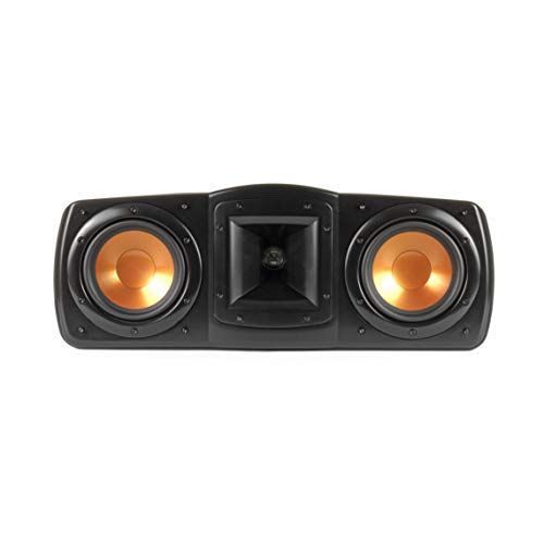 """Klipsch Synergy Black Label C-200 Center Channel Speaker for Crystal-Clear Dialogue and Vocals with Proprietary Horn Technology, Dual 5.25"""" High-Output Woofers, and Dynamic 1"""" Tweeter in Black"""