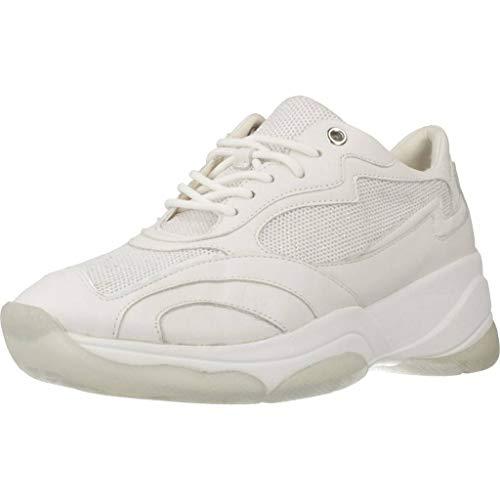Geox D Kirya B, Scarpe da Ginnastica Basse Donna, Bianco (White C1000), 39 EU