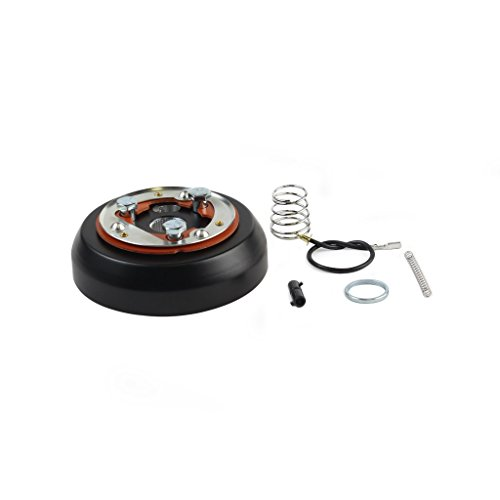 3-Hole Matte Black Hub Adapter Installation Kit For Aftermarket Steering Wheels