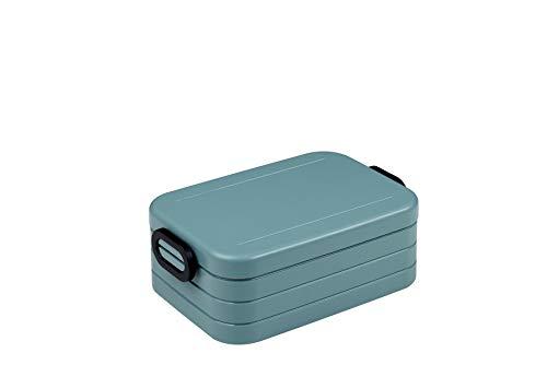 Mepal Take a Break midi – Nordic Green – 900 ml Inhalt – Lunchbox mit Trennwand – ideal für Mealprep – spülmaschinenfest, ABS