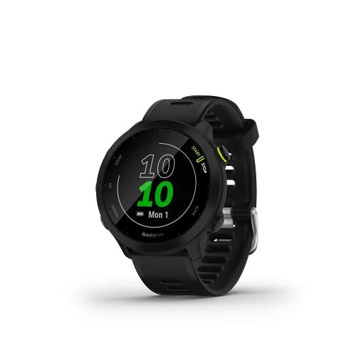 Garmin Forerunner 55 - Reloj Inteligente para Running con GPS, Planes de Entrenamiento, notificaciones y Seguimiento del Bienestar, Negro