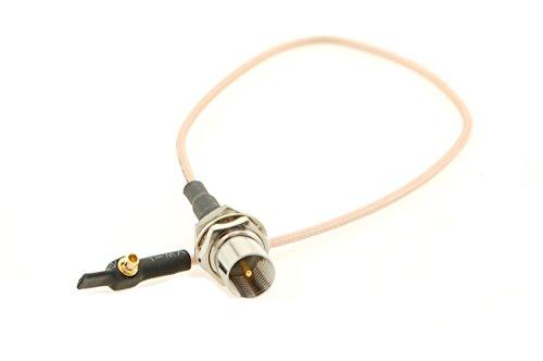 Alda PQ antenne aansluitkabel met inbouwbus 23 cm, RG178 voor FME/M op MMCX/M-RA