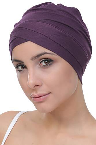 Deresina W gorro de algodón para la quimioterapia, la pérdida de cabello (Mora)