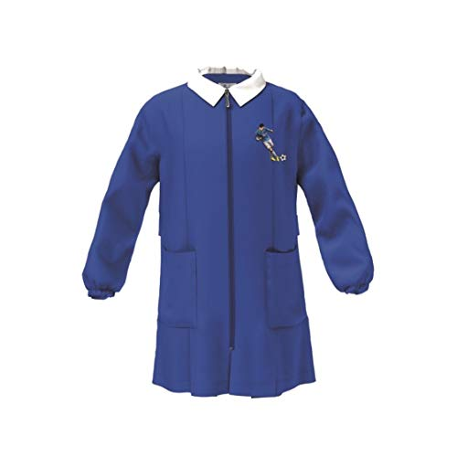 siggi Grembiule Scuola Linea Happy School - Elementari Bambino Colore Blu 4016 con Ricamo - Chiusura con zip, Colletto Bianco. Blu 71