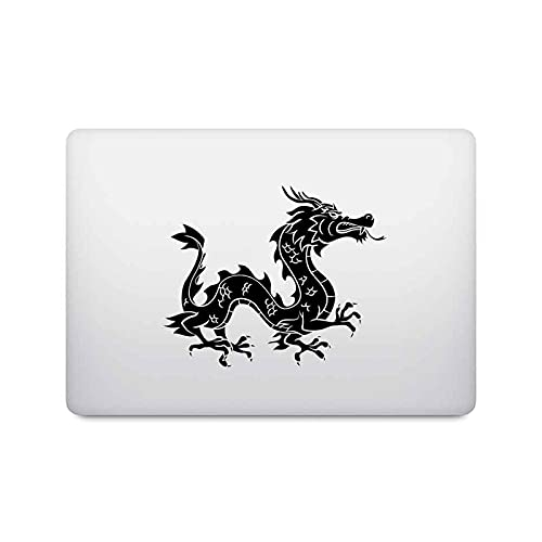 Oriental Dragon - Adhesivo para portátil MacBook Pro de 16 pulgadas, Air Retina 11, 12, 13, 15 pulgadas, vinilo para MacBook, 14 pulgadas, vinilo y Chromebook Notebook Decal-Negro