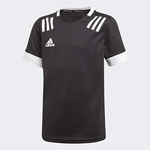 adidas Unisex Kinder Tw 3S JSY Y Unterhemd, schwarz/weiß, 152