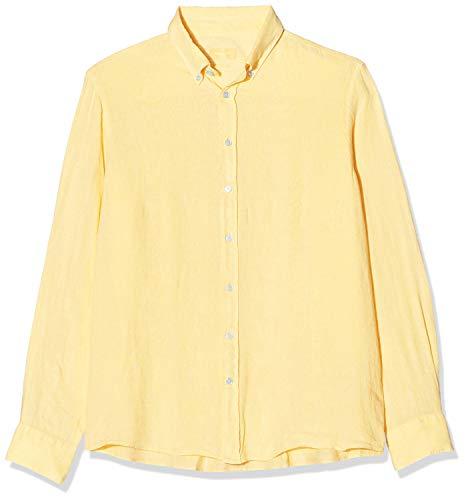 Hackett Herren Garment Dye Ln Bs Businesshemd, Gelb (009pale Yellow 009), 37 (Herstellergröße: XS)