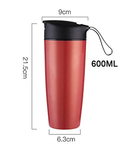 ZHFZD Thermoskan, grote capaciteit, draagbare koffiemok, keramiek, kantoor, auto, kantoor, student, beker 2 Kleur:
