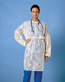 202 PT# 202- Gown Isolation Poly Coated Fluid Resistant Elst Cuff Yellow 50/Ca by, Busse Hospital Disposable