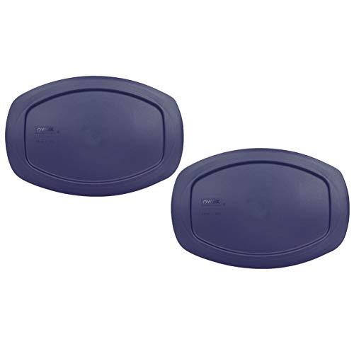 Pyrex C-702-PC tapa de almacenamiento ovalada de plástico de 1.3 cuartos de galón azul