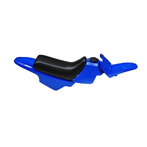 Kit de depósito de Gas de plástico para carenado Delantero, Guardabarros Trasero, Kit Completo de Asiento para Yamaha PW50 PW 50, Color Azul