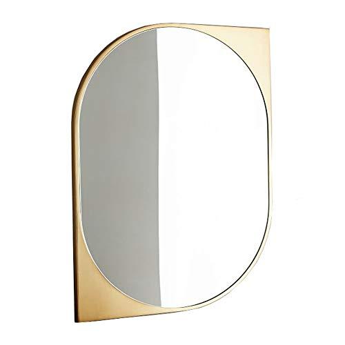 KQKLQQ Arte escandinavo de Pared Espejo de baño for el baño, Aseo, Dormitorio (60x90cm Perfil)