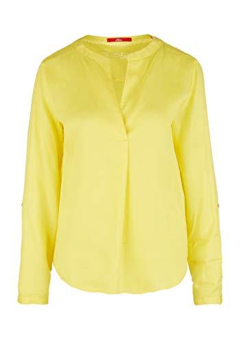 s.Oliver RED LABEL Damen Leichte Tunika-Bluse aus Lyocell light yellow 44