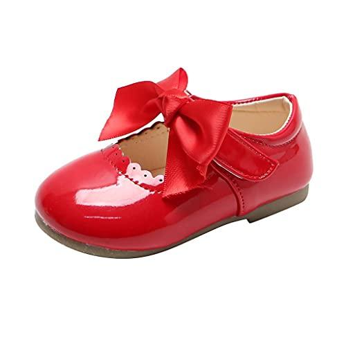 Leder Kinderschuhe 20 Mädchen Prinzessin Schuhe Kinder Kleinkind Schuhe Junge Kinder Schuhe Mit Bow-knot Tanzschuhe Weicher Boden Lauflernschuhe Babyschuhe