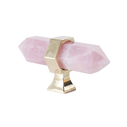 Manija de puerta de cristal, luz nórdica, mueble natural de lujo, caja de zapatos, mesita de noche, cajón, manija de la puerta (color: rosa, tamaño: 1)