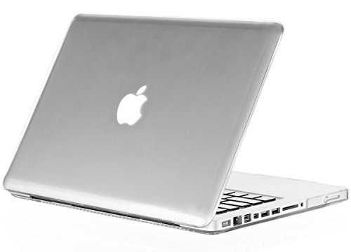 Kuzy - MacBook Pro 17 inch Case for Model A1297 Aluminum Unibody, Shell Soft-Touch Hard Cover for 17 inch MacBook Pro - Clear