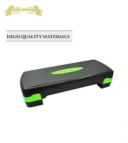 ABB INITIO GYM Polypropylene Adjustable Home Gym Exercise Fitness Stepper for Exercise Aerobics Stepper (Green&Black)