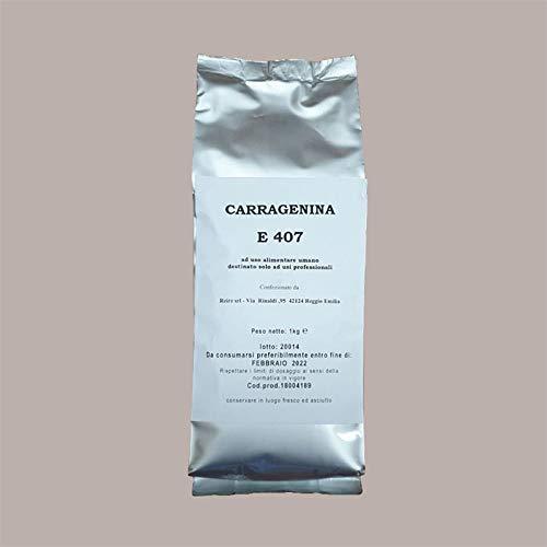 LUCGEL Srl (1 Kg ) Carragenina in Polvere E407 Addensante Stabilizzante Gelificante x Pasticceria e Ricette varie destinato solo ad USI PROFESSIONALI