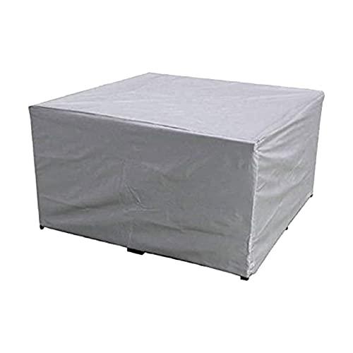 A-A Funda para Muebles De Jardín, Funda Impermeable para Muebles con Cordón, Lona De Fibra De Poliéster Anti-UV para Mesas De Jardín, Funda Protectora Antipolvo, 152x104x71cm / 160x160x80cm