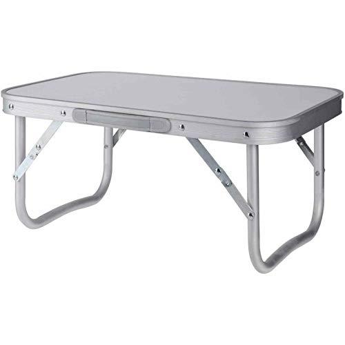 Table de camping pliante en aluminium pour intérieur et jardin, table de pique-nique, petite table de camping, barbecue et table de salle à manger, table pliante de camping, plateau de lit