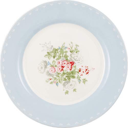 GreenGate Teller PETRICIA Blau Weiß 20 cm Porzellan Kuchenteller Dessertteller