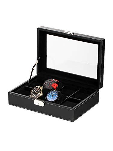 Rothenschild Uhrenbox RS-3361-8BLBV für 8 Uhren Black-Velvet