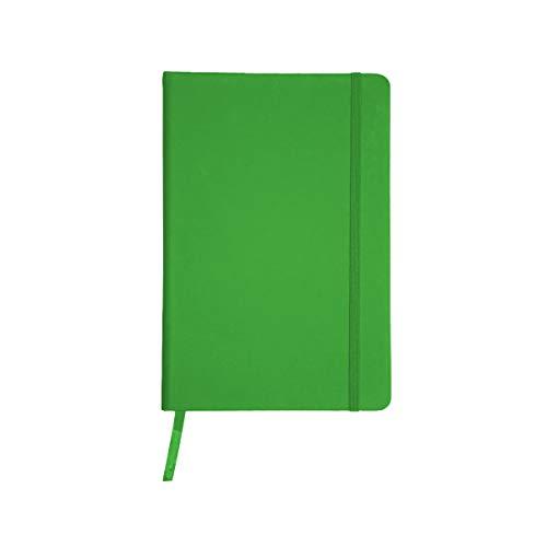 Projects Notizbuch 'Business' DIN A5 - liniertes umweltfreundliches 80 g/m2 FSC-Papier 192 Seiten, Hardcover mit Softtouch-Bezug aus PU & Lesezeichen & Verschlussband – vielseitig verwendbar (grün)