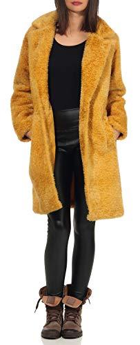 malito dames winter mantel | Fleecejas met zakken | zachte pluche jas | Teddyjas - Parka - Sherpa 1776