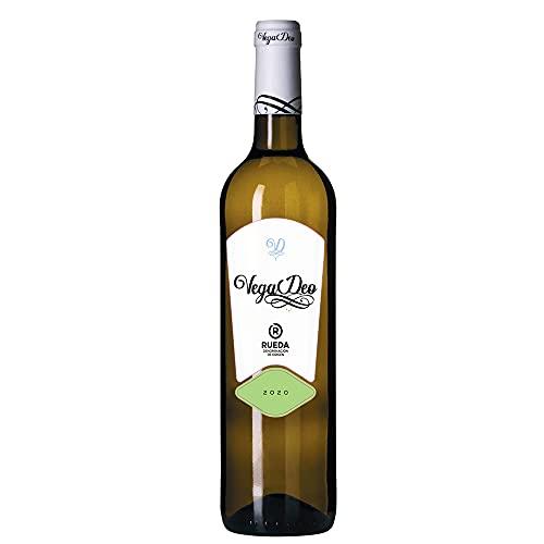 Vega Deo Rueda D.O. RUEDA - Vino blanco aromático - Verdejo, Sauvignon Blanc, Viura - Vendimia nocturna - 6 Botellas - 0,75 L - Cosecha 2020.