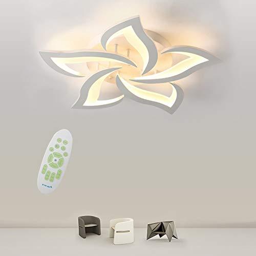 Moderna LED Regulable Lámpara De Techo, 24W Panel Acrílico De Pétalos Creativos Personalidad Luces De Techo, Usado for Comedor, Dormitorio, Lámpara De Techo Con De Pasillo De Habitación Infantil