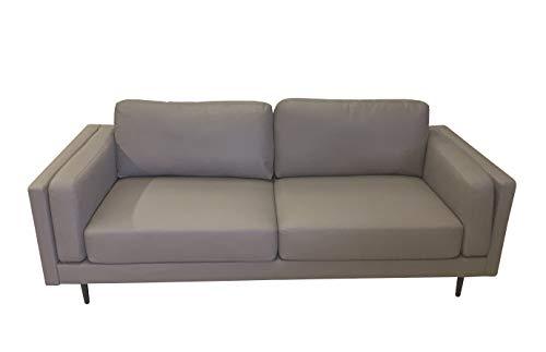SEDEX NEAPEL Sofa 3-Sitzer Garnitur Couch Polstergarnitur Kunstleder - hellgrau