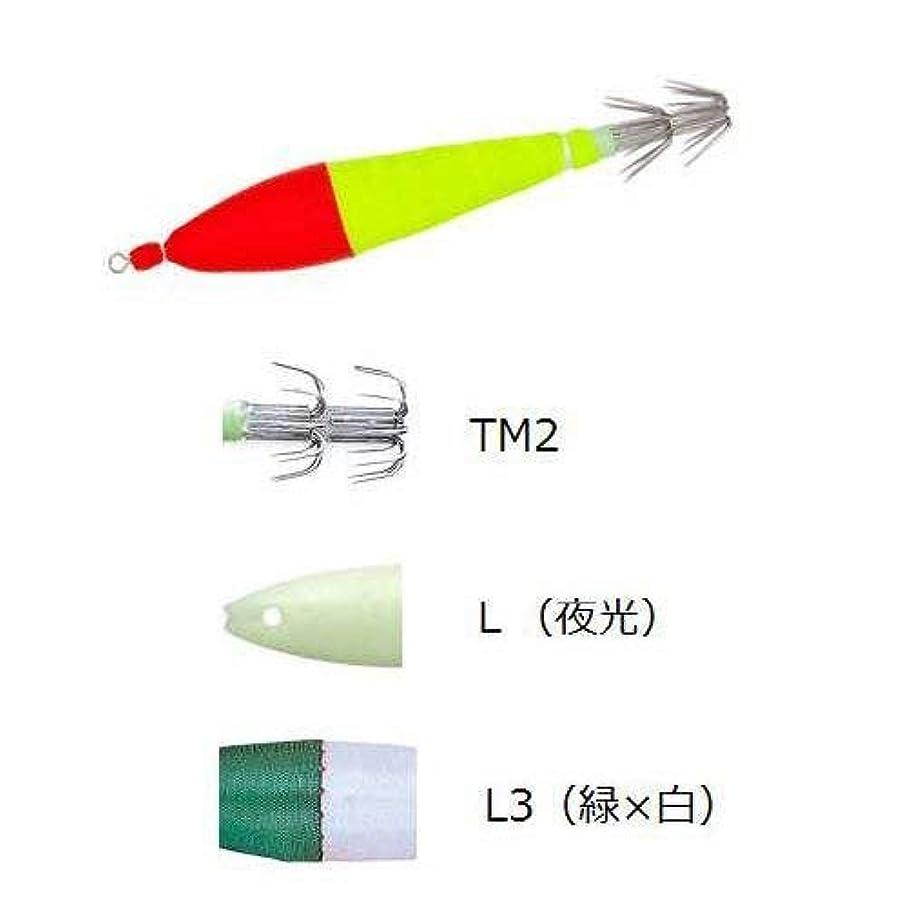 少数スーダン司法デュエル(DUEL) [HP] 浮スッテカン布巻 TM2 4.0号 L3 L緑×白 A983