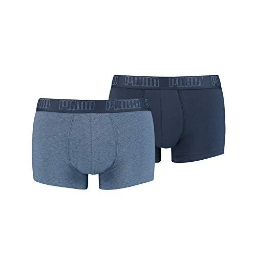 PUMA Mens Basic Men's (2 Pack) Trunks, Denim, XL (2er Pack)