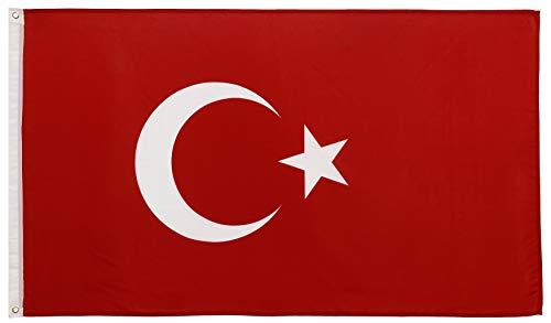 FlagScout - Türkei Flagge | 90 x 150 cm | Flaggen mit top Qualität, hochwertiger Verarbeitung und kräftigen Farben