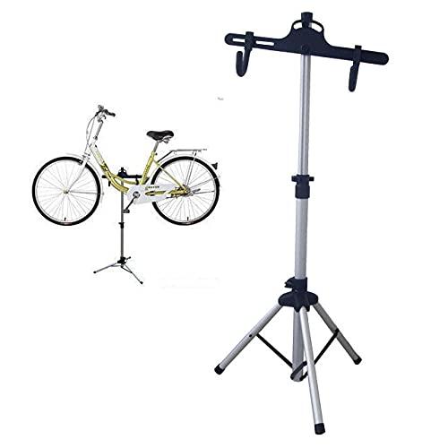 Aleación de Aluminio Soporte Bicicleta Suelo,Soportes Bicicletas Suelo Ajustable, Ligero, Portátil Soporte para Bicicletas Suelo Y Poder Pedalear para Bicicletas De Carretera De Montaña