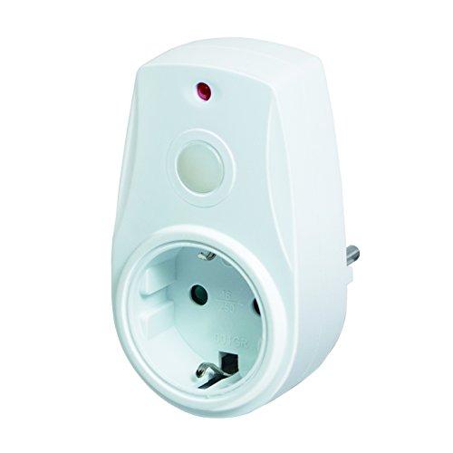 LogiLink Steckdosenadapter mit Dämmerungssensor für automatische Tag- und Nachterkennung, 1 Stück, PA0152