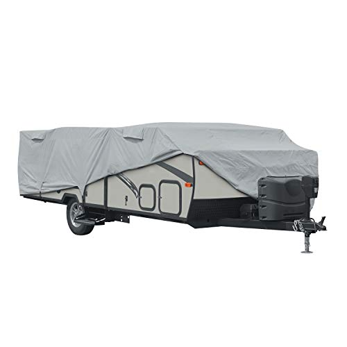 Classic Accessories PermaPro RV Cover for 14'-16' Long Folding Camping Trailers, Grey (Limited