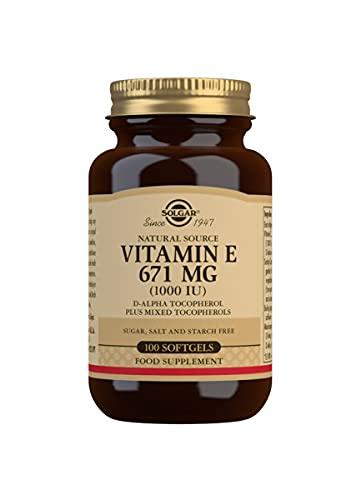 Solgar Vitamin E 671 mg (1000 IU) Softgels - Pack of 100