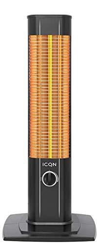 ICQN Stand Heizstrahler   Infarot   Infarotheizung für Innen- & Außenbereich   Standheizstrahler   Standgerät   IP20   Digitalanzeige   IC1200.RB (1200 Watt)