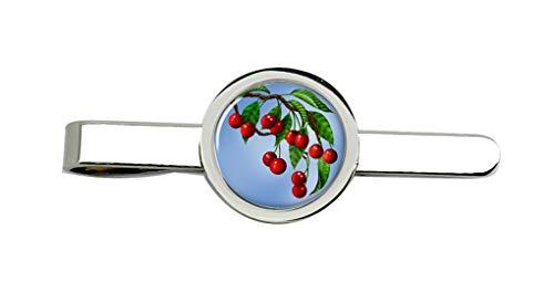Family Crests Rote Kirschen Clip-Krawatte Nadel