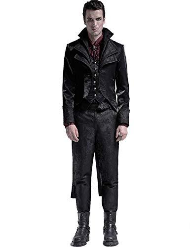 Punk Rave Gótico adornado con múltiples capas cuello de los hombres abrigo victoriano magnífico brillante Prom formal chaqueta