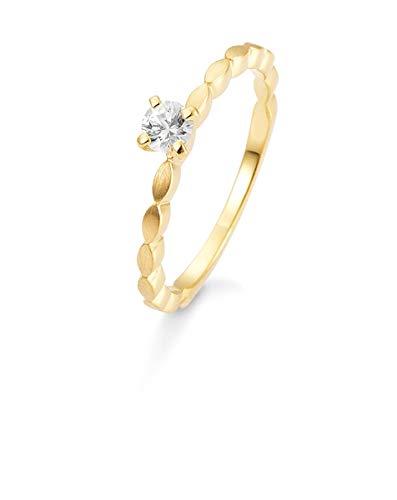 Breuning - Verlobungsring Gold 585/- mit Safir weiß, 42/03331-0-31