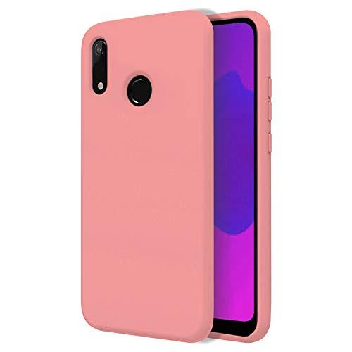 TBOC Funda para Huawei Y6 (2019) - Carcasa Rígida [Rosa] Silicona Líquida Premium [Tacto Suave] Forro Interior Microfibra [Protege la Cámara] Antideslizante Resistente Suciedad Arañazos