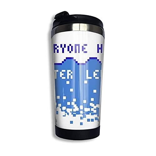 Todo el mundo odia los niveles de agua taza de viaje café taza doble pared acero inoxidable aislado al vacío tazas 13 oz